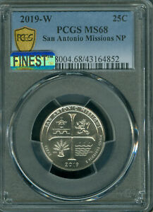 Click now to see the BUY IT NOW Price! 2019 W SAN ANTONIO QUARTER PCGS MS 68 MAC FINEST MAC SPOTLESS