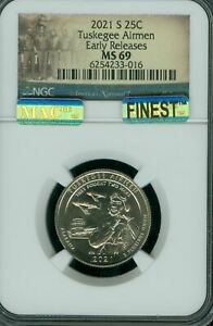 Click now to see the BUY IT NOW Price! 2021 P D S TUSKEGEE SET OF 3 QUARTER NGC MS69 PQ MAC FINEST SPOTLESS UNIQUE