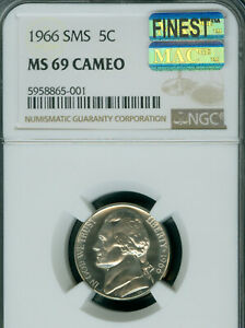 Click now to see the BUY IT NOW Price! 1966 JEFFERSON NICKEL NGC MS69 CAMEO MAC FINEST GRADED  POP 2