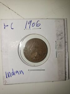 1906 1C INDIAN HEAD CENT IN UNCIRCULATED  CONDITION 05673