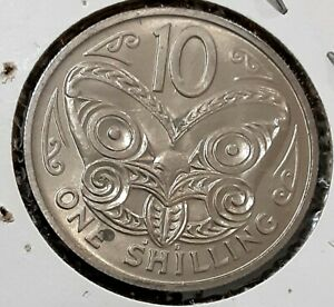 NEW ZEALAND 1968 ONE SHILLING 10 CENTS UNCERCULATED 17/2