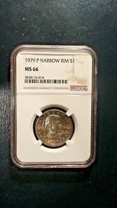 1979 P SUSAN B ANTHONY NGC MS66 GEM UNCIRCULATED $1 COIN BUY IT NOW