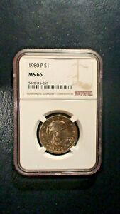1980 P SUSAN B ANTHONY NGC MS66 GEM UNCIRCULATED $1 COIN BUY IT NOW