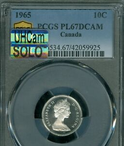 Click now to see the BUY IT NOW Price! 1965 CANADA 10 CENTS PCGS PL 67 DCAM MAC UHCAM SOLO FINEST GRADE SPOTLESS