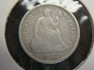 1873 UNITED STATES HALF DIME   NICE SMALL SIZE SILVER COINAGE