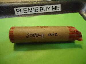 2020 D  UNC  LINCOLN CENT ROLL