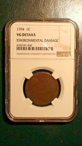 1794 LIBERTY CAP LARGE CENT NGC GOOD DETAILS 1C PENNY COIN PRICED TO SELL