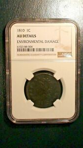 1810 CLASSIC HEAD LARGE CENT NGC ABOUT UNCIRCULATED 1C PENNY COIN PRICED TO SELL