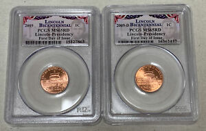 SIX DIFFERENT 2009 P&D U.S. LINCOLN BICENTENNIAL PCGS MS65RD FIRST DAY OF ISSUE