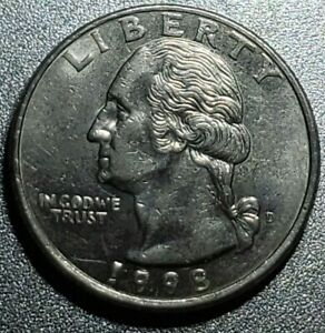 1998 D QUARTER.  DOUBLE DIE REVERSE AND BROADSTRIKE.