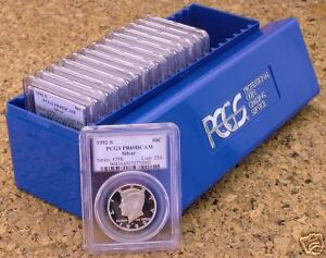 Click now to see the BUY IT NOW Price! 1992 2005 PCGS PR69 DCAM SILVER KENNEDY 14PC LOT
