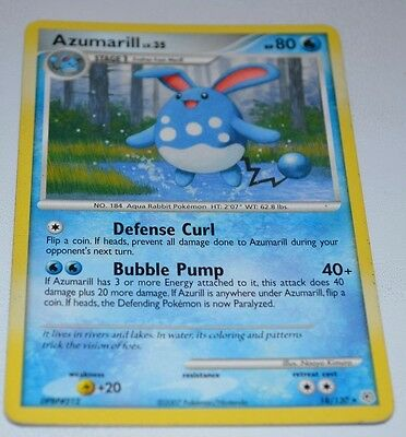 Azumarill # 18/130 Diamond & Pearl Set Pokemon Trading Cards Rares And Game GD