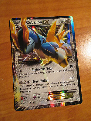PL Pokemon COBALION EX Card PLASMA STORM Set 93/135 Black White Ultra Rare PLAYD