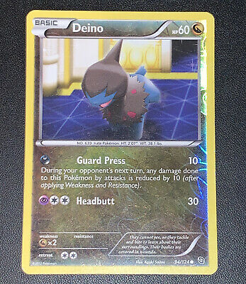 Pokemon Deino 94/124 Reverse Holo Dragons Exalted - Played Condition