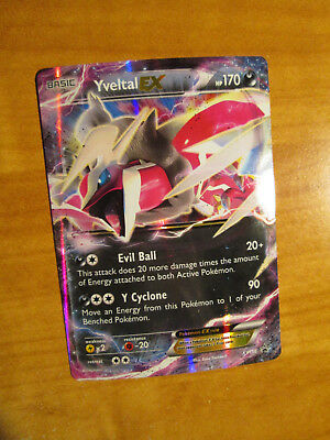 LP Pokemon YVELTAL EX Card BLACK STAR PROMO Set XY150 Ultra Rare Kalos Tin