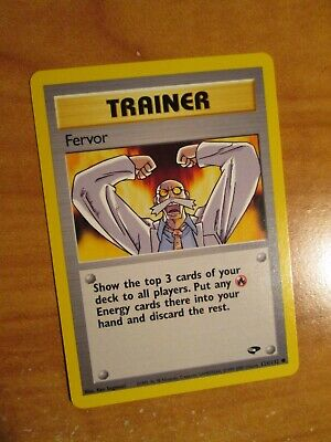 PL (Unlimited) Pokemon FERVOR Card GYM CHALLENGE Set 124/132 Trainer PLAYED