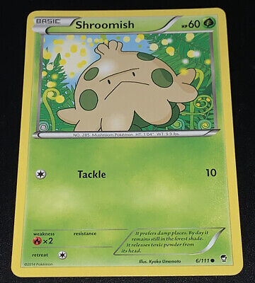 Pokemon Furious Fists Shroomish 6/111 Common - Excellent Condition
