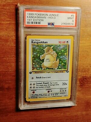 1999 Pokemon Jungle 1st Edition Holo Kangaskhan #5 PSA 9 MINT