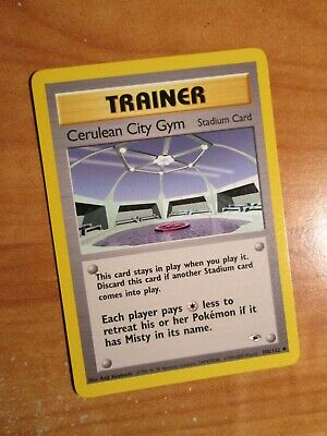 NM (Unlimited) Pokemon CERULEAN CITY GYM Card GYM HEROES Set 108/132 Trainer