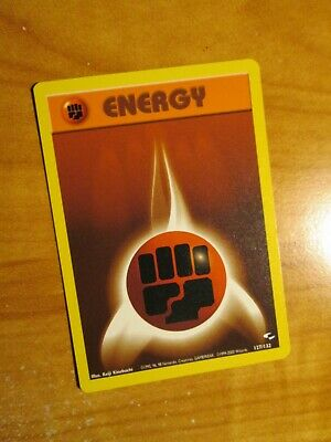 NM (Unlimited) Pokemon FIGHTING ENERGY Card GYM HEROES Set 127/132 COMMON