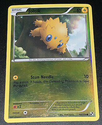 Pokemon Steam Siege Joltik 44/114 Reverse Holo Common - Played Condition