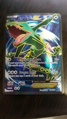 FULL ART Rayquaza EX ULTRA RARE 104/108 Pokemon XY Roaring Skies Holo Foil - LP