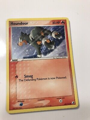 Pokemon NonHolo HOUNDOUR 60/115 Basic NM CARD UNSEEN FORCES Logo 2005