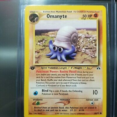 Pokemon: OMANYTE - [60/75] - [1st Edition] - [Neo Discovery Set] - NM/NP