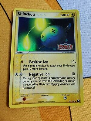 Chinchou   Reverse Holo   NM   EX Power Keepers 49/108   Common   Pokemon