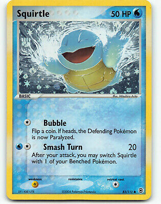 Pokemon - Ex FireRed & LeafGreen - Reverse Holo - Squirtle 83/112 - LP/NM!