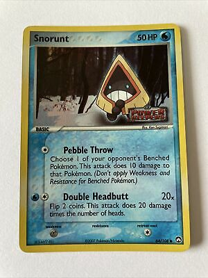 Snorunt ex Power Keepers Holo Stamp Pokemon TCG 64/108