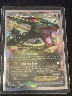 Rayquaza EX 85/124 Dragons Exalted ULTRA RARE Pokemon Card 2012 Pack Fresh