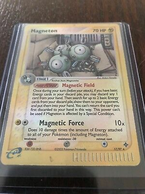 Pokemon Card - Magneton 17/97 (Holo) - EX Dragon - Well Played (HQ scans inside)