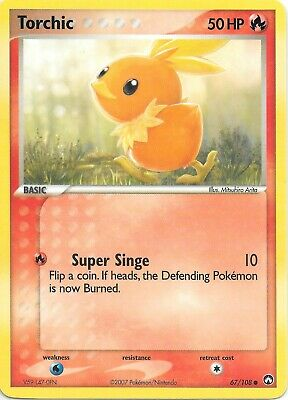 TORCHIC  67/108  EX POWER KEEPERS Pokemon Card  NM