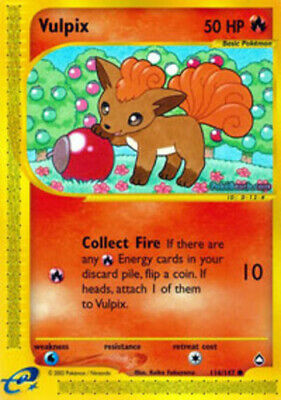 Vulpix - 116/147 - Common - Aquapolis - NM - Pokemon