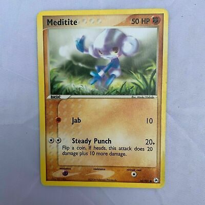 Pokemon Card Meditite 66/101 EX Hidden Legends