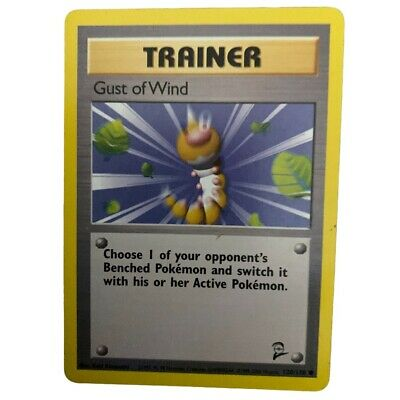 Pokemon Card Trainer Gust of Wind Base Set 2