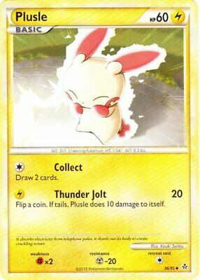 Plusle - 36/95 - Uncommon - Reverse Holo - HS Unleashed - NM - Pokemon