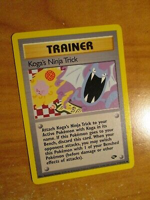 LP (Unlimited) Pokemon KOGA'S NINJA TRICK Card GYM CHALLENGE Set 115/132 Trainer