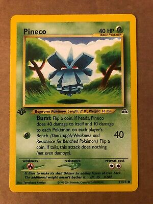 Pokemon Pineco 61/75 Neo Discovery 1st Edition NM See Pictures