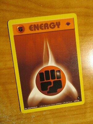 LP (1st edition) Pokemon FIGHTING ENERGY Card GYM CHALLENGE Set 127/132 First Ed