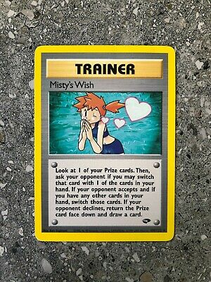 Pokemon TCG Cards Misty's Wish 108/132 Gym Challenge Rare *small crease*