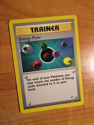 PL (Unlimited) Pokemon ENERGY FLOW Card GYM HEROES Set 122/132 Trainer PLAYED