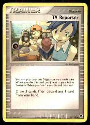 2006 Pokemon EX Dragon Frontiers Tv Reporter U #82