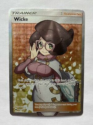 Pokemon Wicke Full Art Sm Burning Shadows 147 Ultra Holo Rare Mint