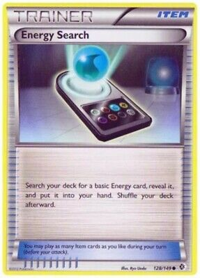 Energy Search - 128/149 Common BW Boundaries Crossed Pokemon Card