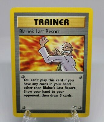 Blaine's Last Resort Pokemon TCG - Gym Heroes - 105/132 - (NM) Near Mint