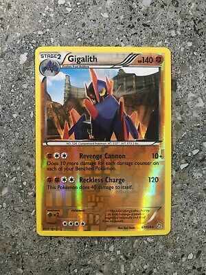 Pokemon TCG Cards Gigalith 67/124 Dragons Exalted Reverse Holo Rare NM
