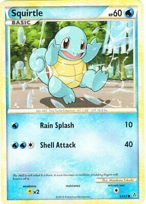 Squirtle - 63/95 - Common - HS Unleashed - NM - Pokemon