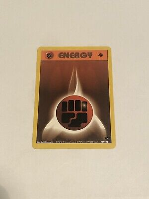 1st edition Fighting Energy 127/132 Gym Challenge Pokemon card Mint Condition